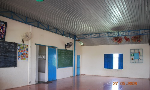 Studying area is also used as sleeping area for the children