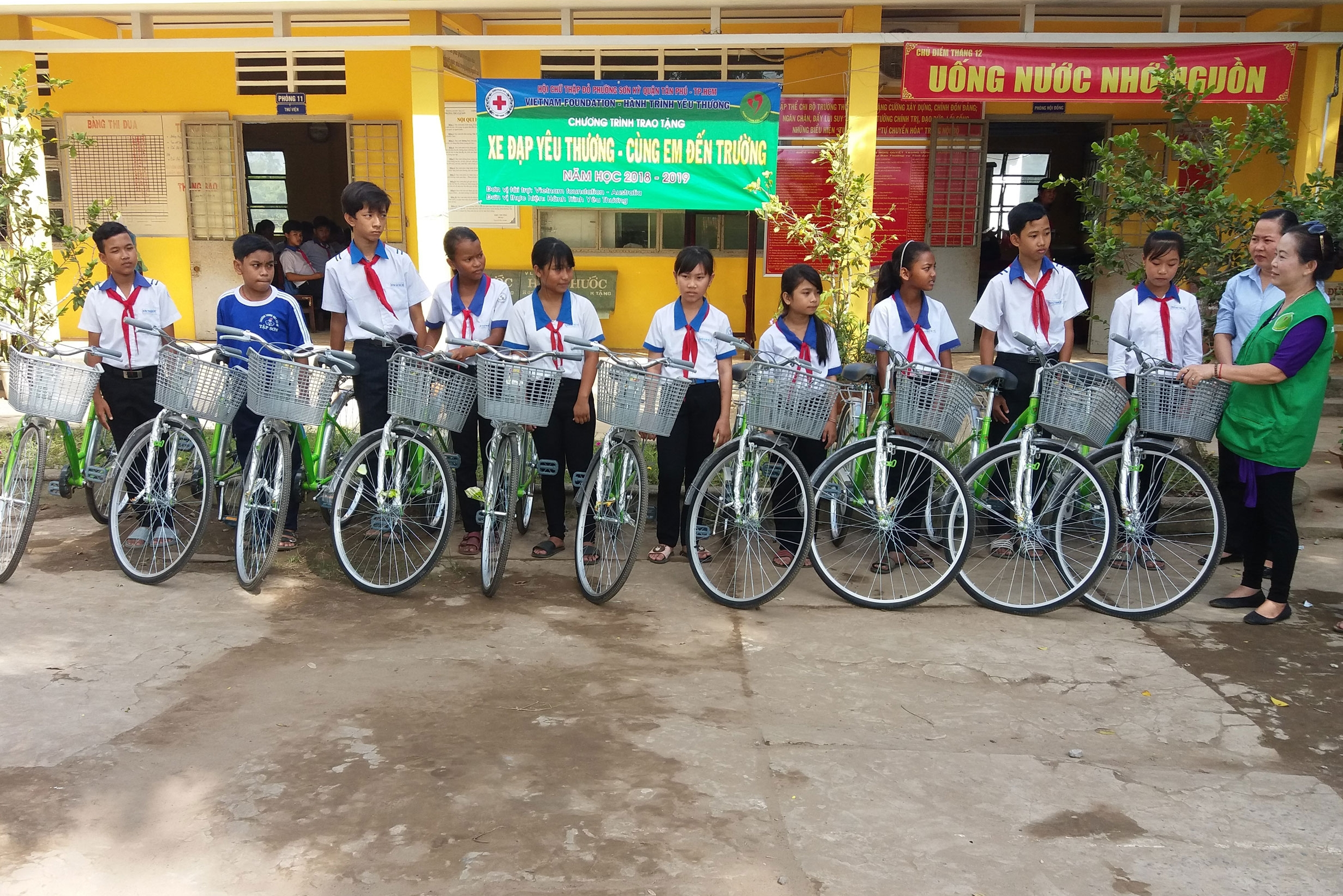 Happy and proud recipients of VNF's recycled bikes