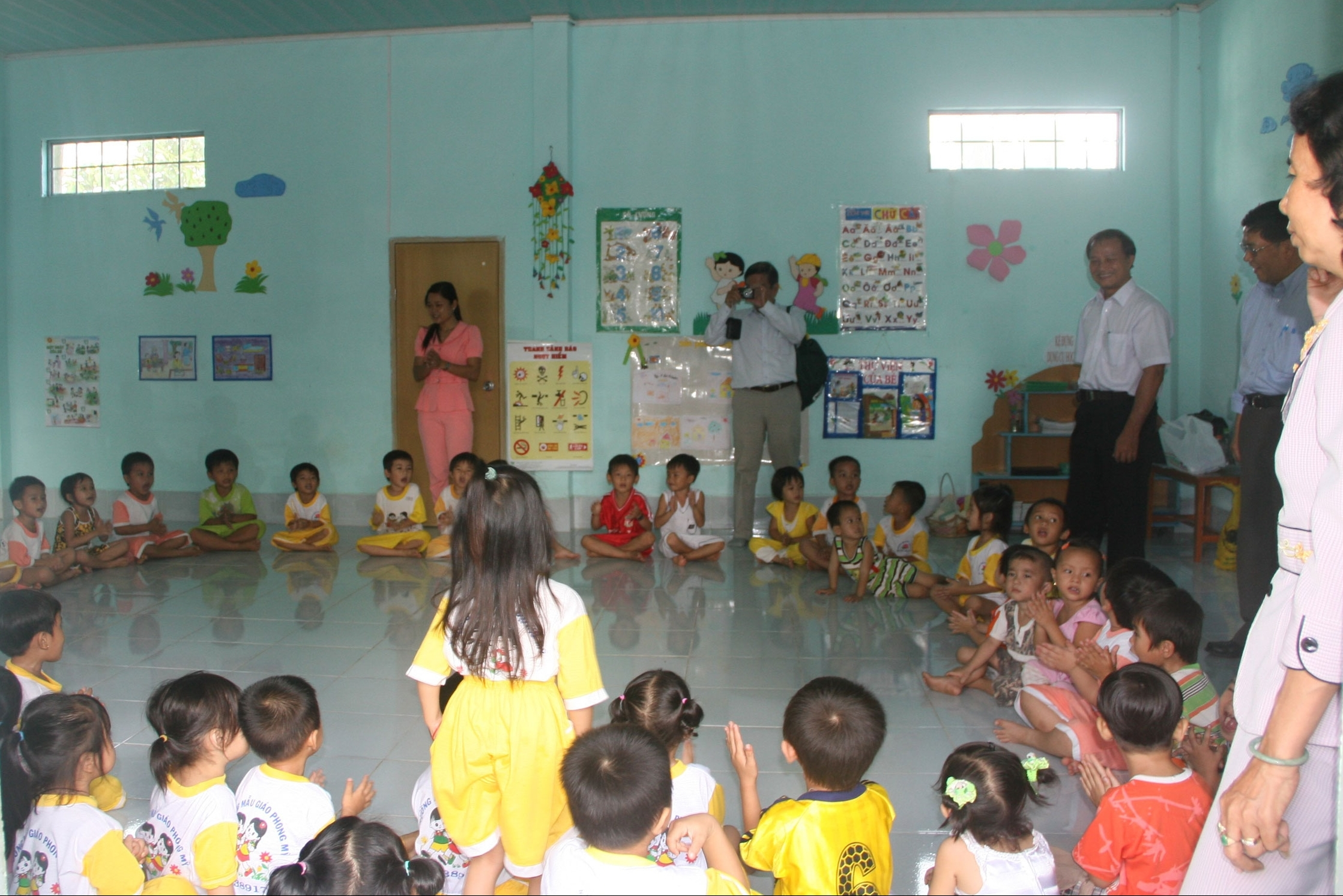 The new spacious classroom proving a more suitable learning environment for young children.