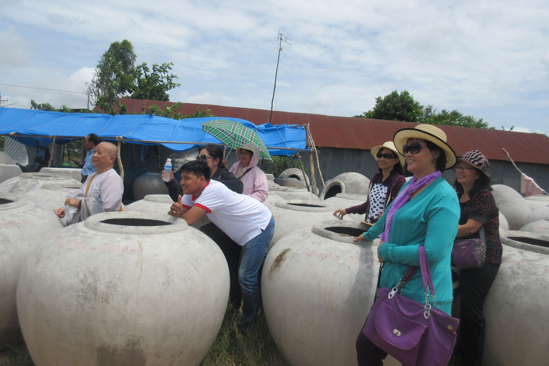 Vats being delivered under the coordination of VNF's local Partner